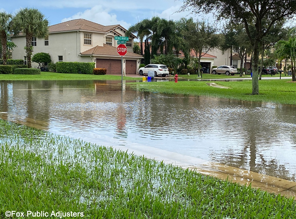 Flood from a Palm Beach County Storm