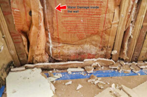 Water damaged home in South Florida