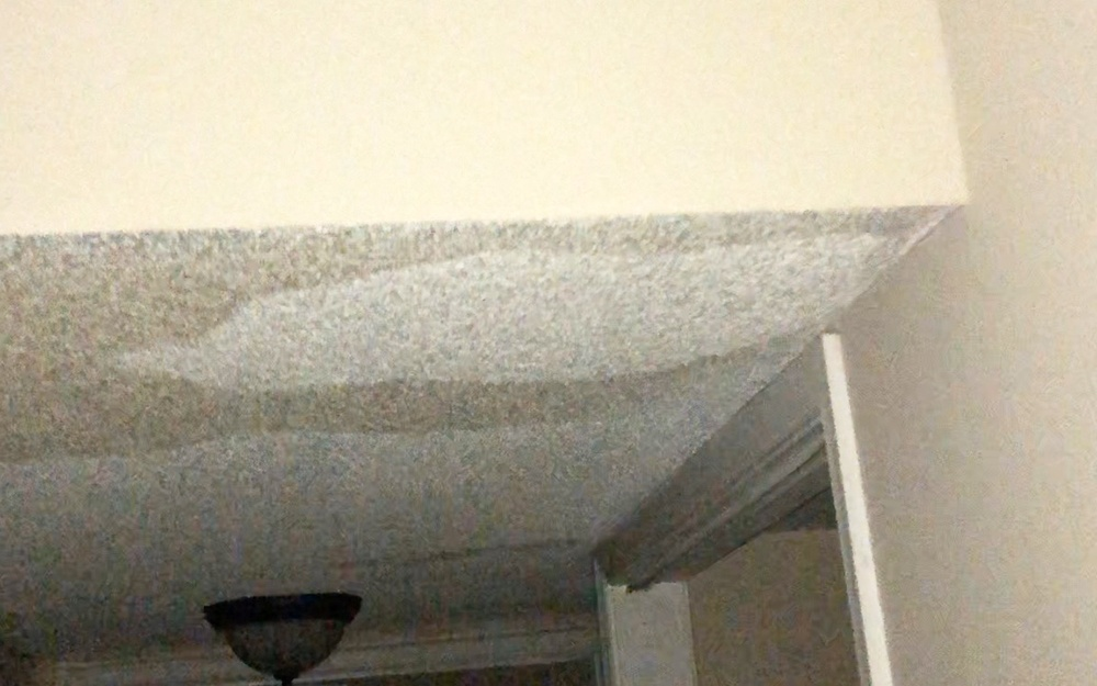 Water damage in a Palm Beach County first floor unit.