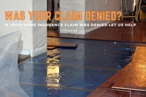 Home insurance claim denied