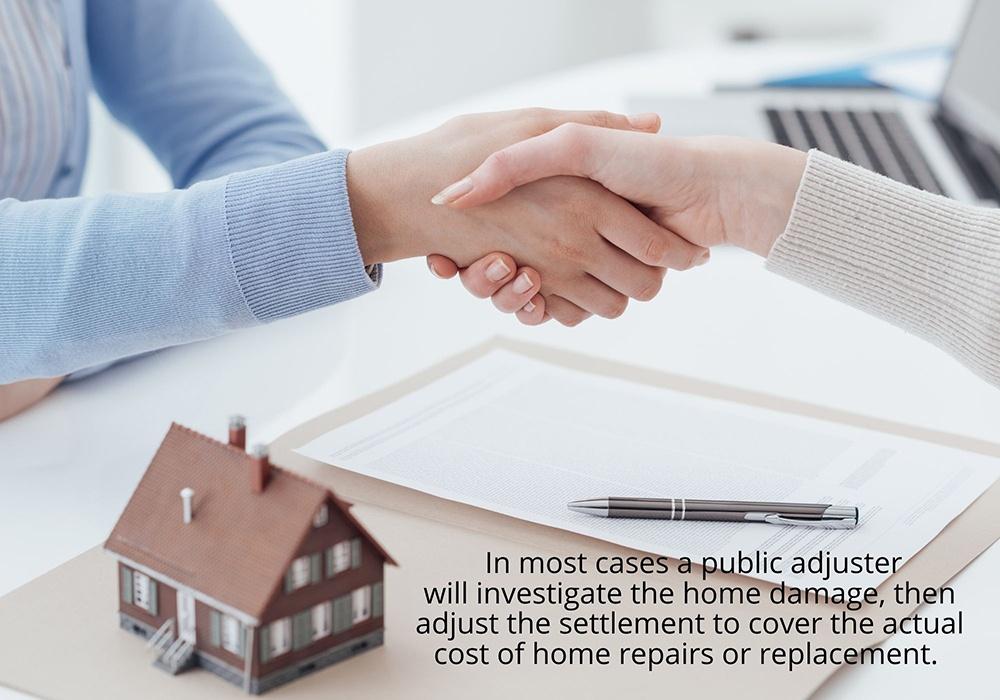 A Florida public adjuster can adjust the settlement.