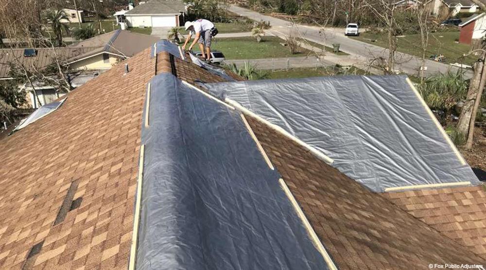 Roof damage repair in Martin County