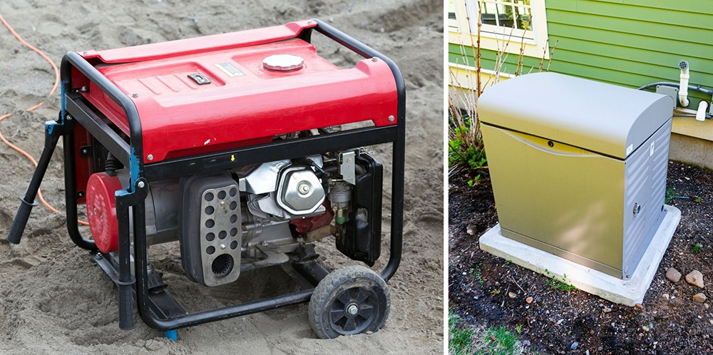two different types of power generators.